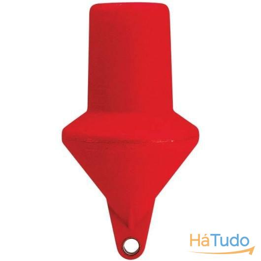 Bóia de Marcação Cilíndrica Vermelha 74 Cm Cheia