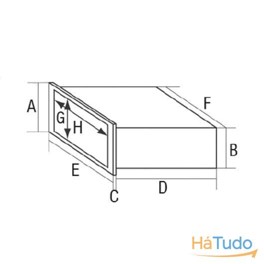 Caixa porta objectos multiusos 104x235x165mm