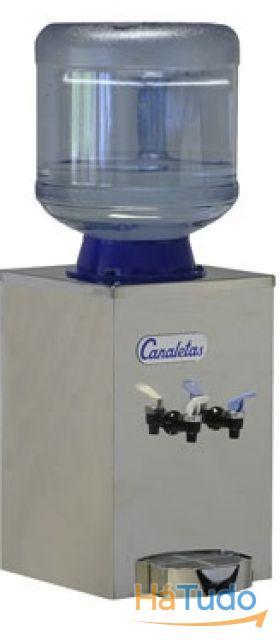 Maquina de agua fria e natural em aço inox pequena - Garrafão reutilizavel 12,7 lts