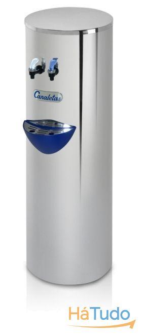 Maquina de agua fria e natural em aço inox - Ligação á rede