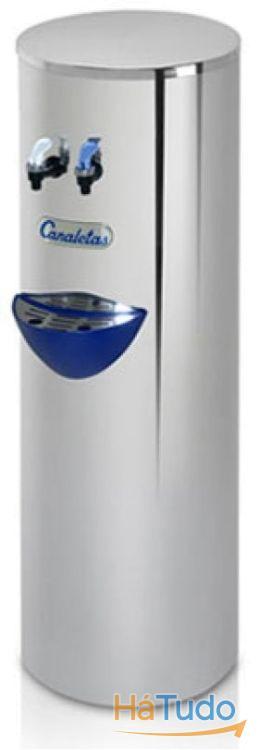 Maquina de agua fria e natural em aço inox - Ligação á rede Osmosis Inversa