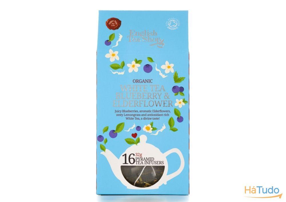 Chá Branco Mirtilo e Sabugeiro