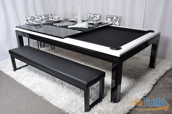 Bilharwhite and black +tampo oferta Bilhares Xavigil