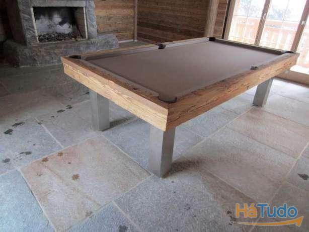 Bilhar pés inox ,madeira estilo antigo BILHARES XAVIGIL
