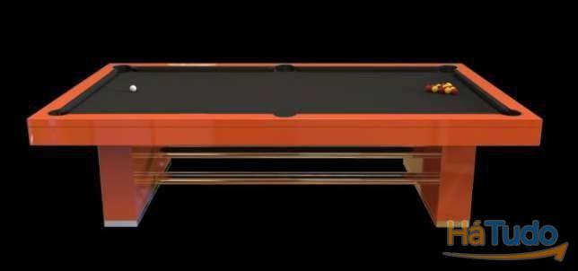 Bilhar galatico power orange oferta tampo Bilhares Xavigil