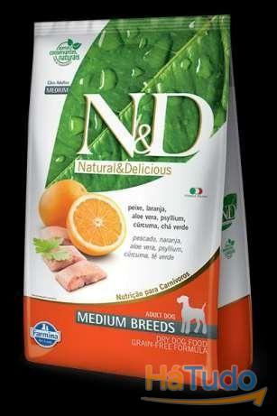 Farmina N&D (Grain Free) Adulto Medium - Peixe e Laranja - 800gr