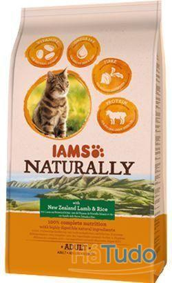 Iams Naturally Cat Gato Adult Borrego e Arroz