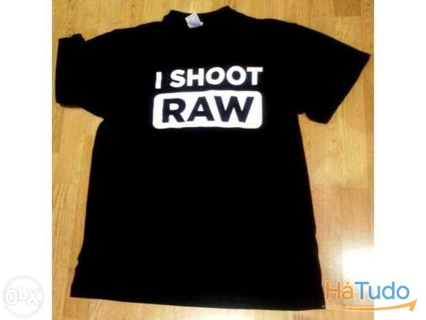 I shoot raw - t-shirt - nova - unisexo