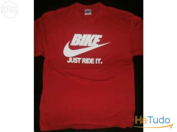 Bike - just ride it - t-shirt - nova - unisexo