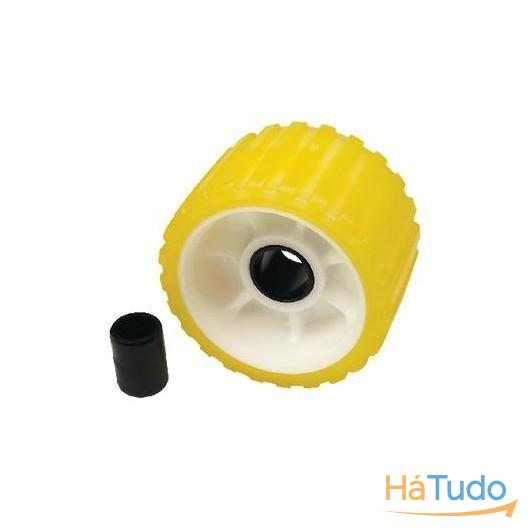Rolete Amarelo Estriado 146mm X 28mm - Seachoice