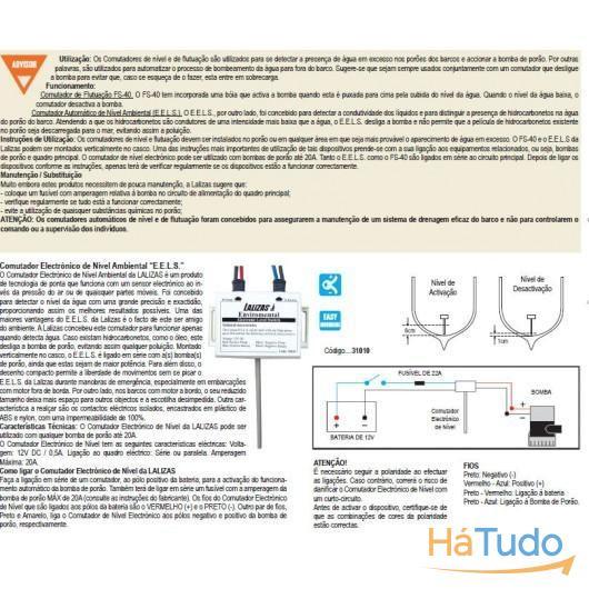 Comutador electrónico de nível ambiental EELS