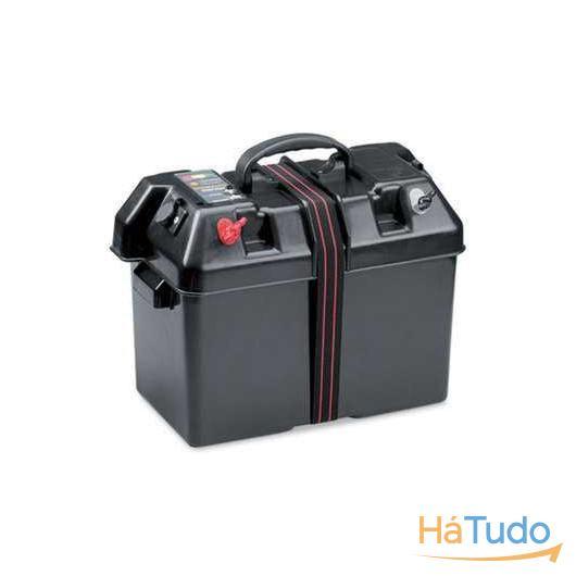 Caixa de transporte de bateria, com 2 tomadas 12v, indicador bateria, Power Center