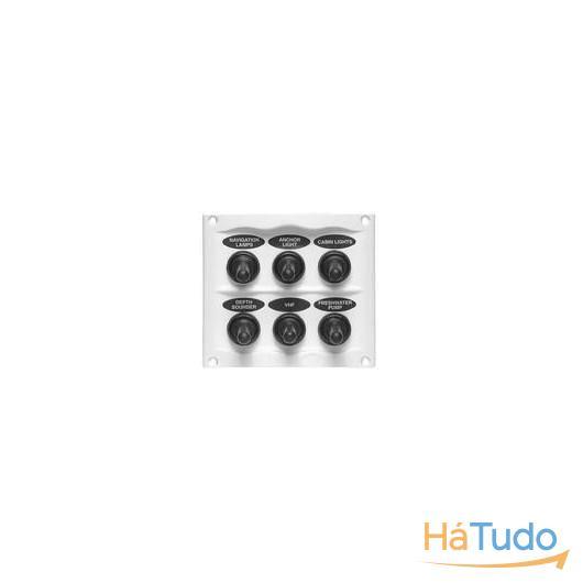 Painel 6 interruptores branco