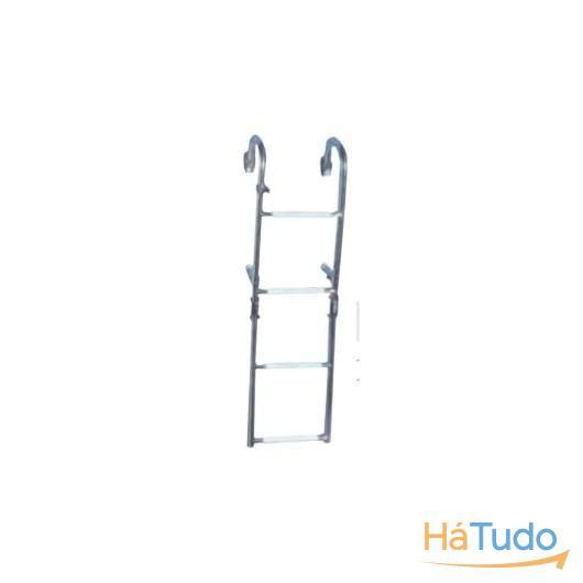 Escada com corrimão e  4 degraus