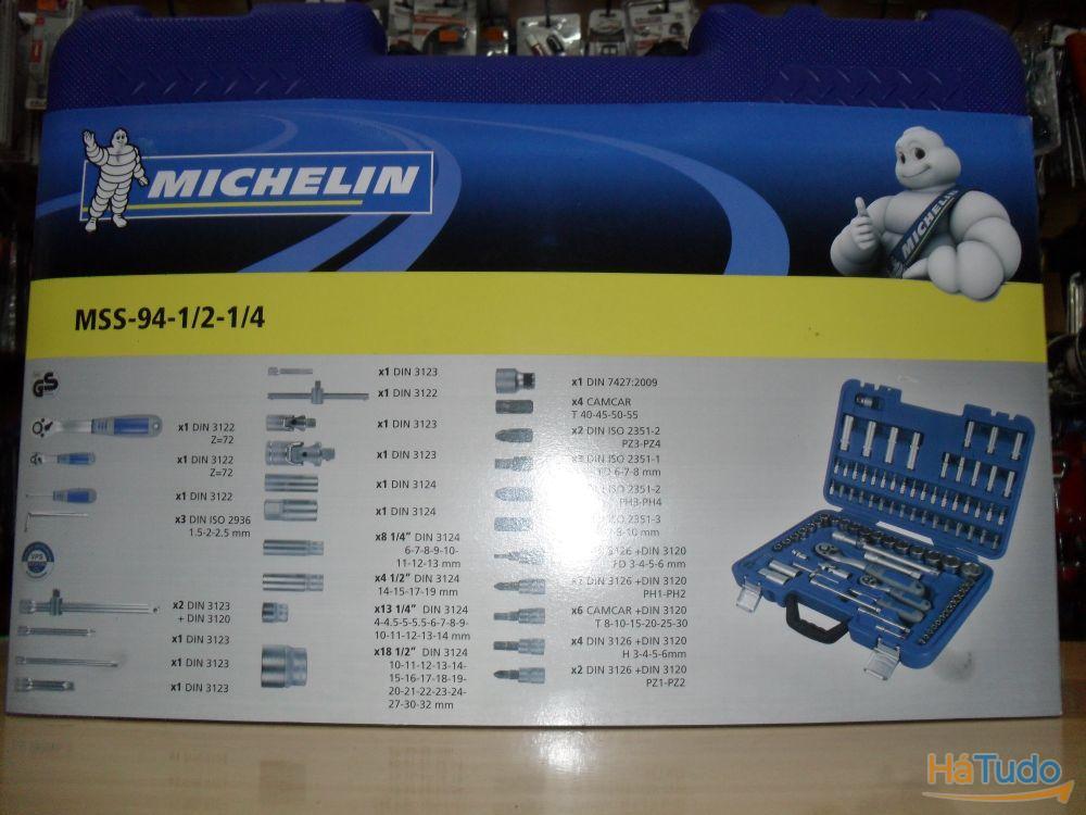 Jogo de roquete 1/2 - 1/4 com 94 peças - MICHELIN