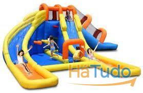 9045-Monster Park Inflatable Water Slide Wet and Dry use