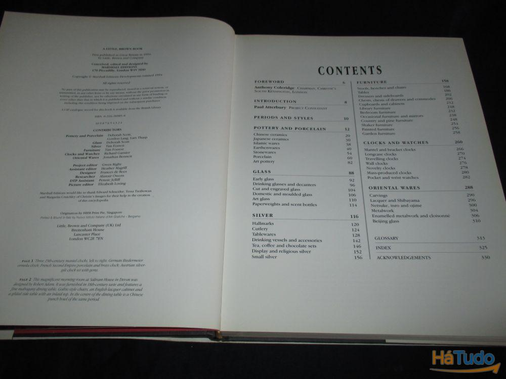 Livro Illustrated Encyclopedia of Antiques