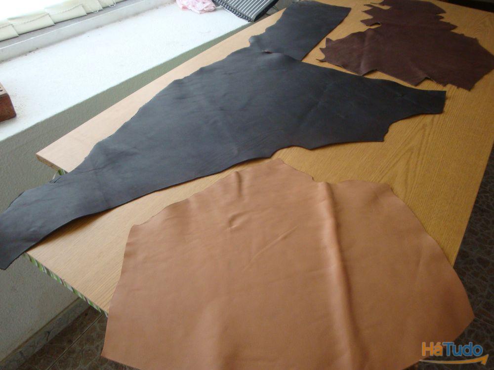 PELES/COURO - Retalhos p/ artesanato