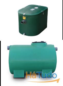 separadores de gordura, reservatórios de agua