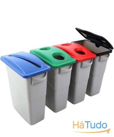 contentores e baldes para lixo