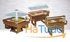 vitrinas expositoras e buffet