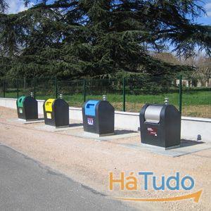 contentores de lixo de alta e baixa capacidade