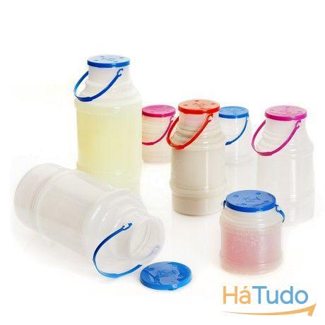 frascos plástico e vidro