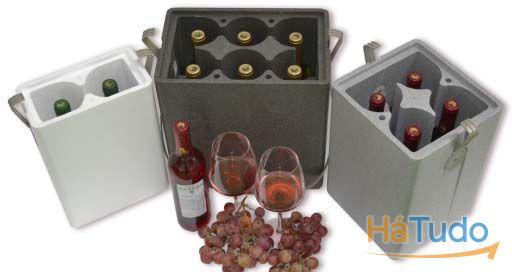 caixas de vinhos em esferovite isotérmicas