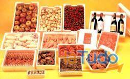 caixas transporte gelados, carne e peixe