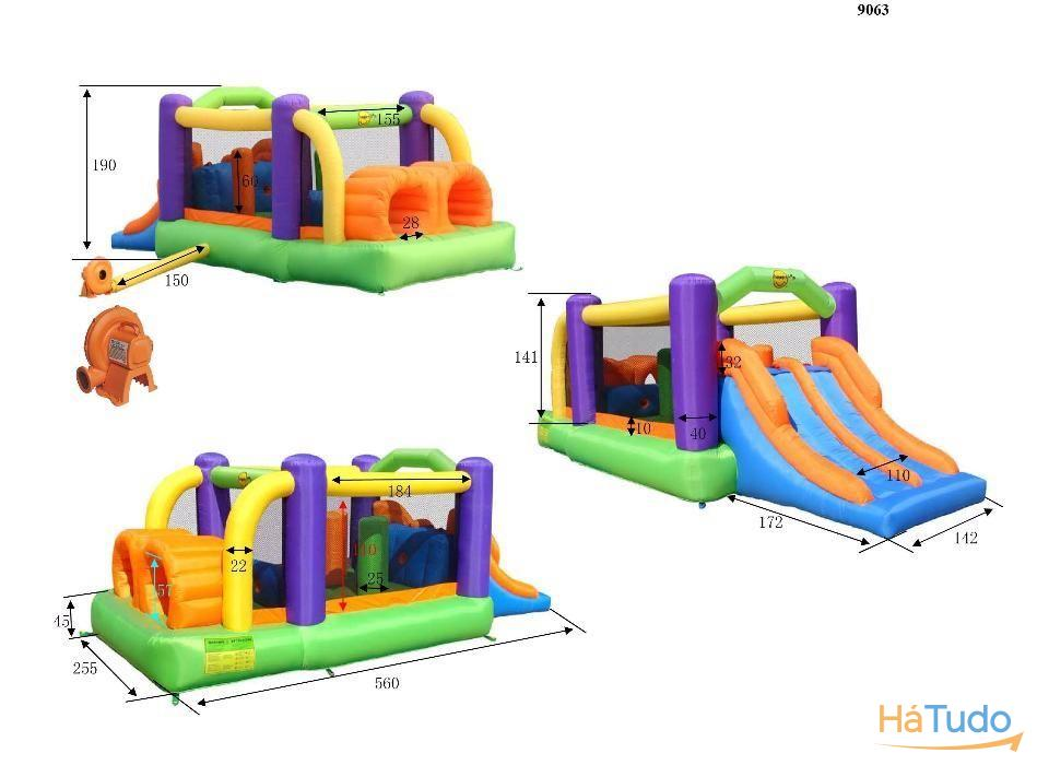 9063 - Insuflável Obstacle Course Bouncer