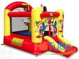 9304y - Insuflável Clown Slide and Hoope Bouncer